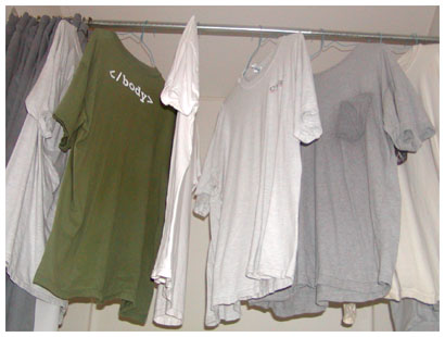drying shirts