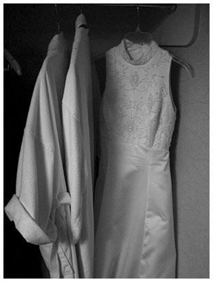 hanging dress