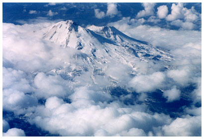 Mt. Shasta from above
