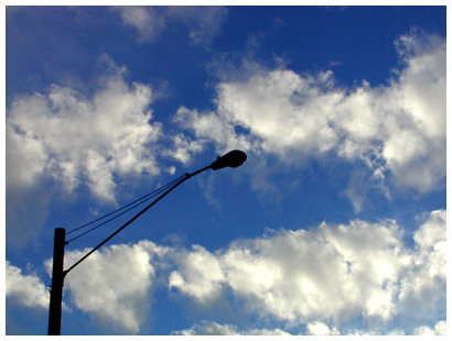 streetlight and clouds
