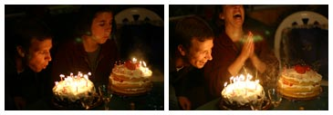 preston and sk blowing candles