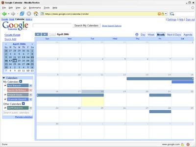 calendar pre import