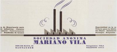 Sociedad Anonima Mariano Vila Letterhead